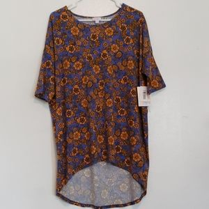 NWT LuLaRoe Irma high low tunic floral t-shirt